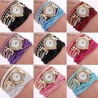 Womens Watch Bracelet Luxury Gold Crystal Dial Analog Dress Quartz Wrist Watches