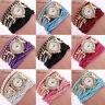 Luxury Womens Watch Bracelet Gold Crystal Dial Analog Dress Quartz Wrist Watches