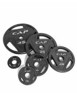 "New, Cap Barbell Olympic 2"" Grip Plates.Free Shipping 2.5lb 5lb 10lb 25lb Single"