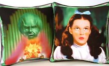 Wizard Of Oz -Dorothy & The Wizard Projector Image One Cotton Pillow 2 sides New