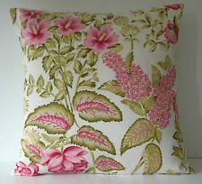 "Ashley Wilde WINCHESTER ROSA SAGE GREEN buddleia FLOWERS 16 ""Cuscino"