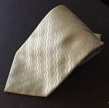 Claiborne 100% Silk Necktie Silver Pale Green Geometric Stripes Tie