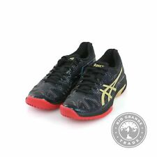 NEW ASICS Women's Solution Speed FF L.E Tennis Shoes in Black / Rich Gold - 8.5
