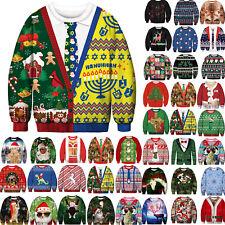 Туника рождественские свитеры Ugly смешной уродливых женский мужчин рождественский пуловер толстовка топы