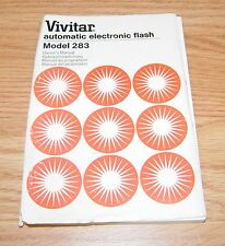 Vivitar Automatic Electronic Flash (283) Owner's Instructional Manual Guide