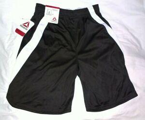Boys Reebok Black/White Training Athletic Shorts Size L 10-12 (NEW)