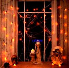 Halloween Party/Prop 50 Orange curtain lights/ window/LED 1.2M x 1.2M