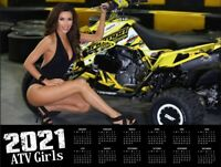 "2021 ATV GIRLS WALL CALENDAR HUGE 17' x 28"" w/ POSTER!"