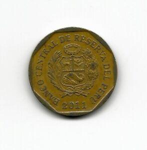 World Coins - Peru 20 Centimos 2011 Coin KM# 306