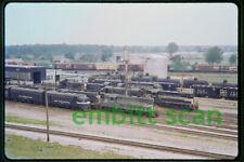 Original Slide, NYC New York Central EMD GP9 #5994 #5952 at Elkhart IN, 1964