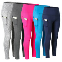 Women's Compression Leggings Pro Sports Fitness Pants with Pocket High Waist