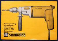 Original Prospekt Bedienungsanleitung Bohrmaschine System 480 1980 Smalcalda sf