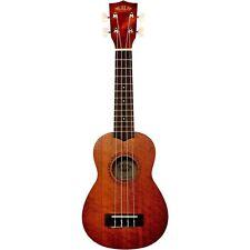 Kala Mahogany Soprano Ukulele, Aquila Strings, Geared Tuners, Satin, KA-15S