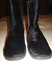 KENNETH  COLE BLACK GOAT HAIR BOOTS, EURO SIZE 37 U.S SHOE SIZE 6.5