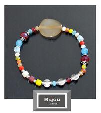 Luxus Armband Bi&Jou Paris Ibiza Brasilien Edelstein Elastisch  Achat Opal Koral