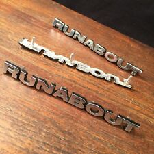 Vtg Ford Pinto Runabout Emblem Lot (3) Metal Car Parts Automobile PRIORITY MAIL