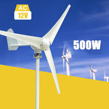 500W Power 3 Blades DC 12V Wind Turbine Generator Kit With Charge Controller US