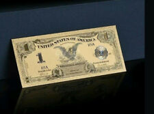 "2X GEM>1899 ""GOLD""$1 SILVER CERTIFICATE BLACK EAGLE Rep.*Banknote W/COA~STUNNING"