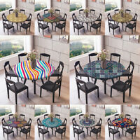 ROUND PARTY EVENTS TABLE CLOTHS - Polyester Elastic Edged Fitted Tablecovers
