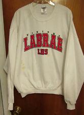 LABRAE HIGH SCHOOL beat-up white sweatshirt XL crewneck Vikings retro Ohio