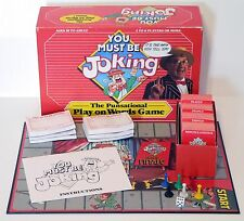 Vintage 1987 You Must Be Joking - The Punsational Play On Words Game - Action GT