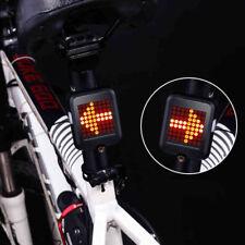 G-Sensor Car Bicycle Bike Rear Tail Laser 64LED Indicator Turn Signal Light USB