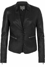 Muubaa Nona  Leather Biker Jacket  Black Size 6