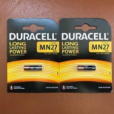 2 x Duracell MN27 A27 12V Batería Alcalina 27A GP27A EL812 para mandos a distancia