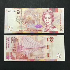 Bahamas 3 Dollars (2019) P78r REPLACEMENT Z Prefix QEII - UNC