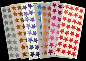 32 Glitzer - Sterne 20mm Ø Sticker Aufkleber glänzend funkelnd selbstklebend