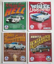 cartes postale 4 LARGE different FORD MUSTANG GT 350 Muscle Cars post card