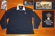Line 7 L7 Team New Zealand World Cup 2003 IRB Rugby Shirt Black Cotton XXL men