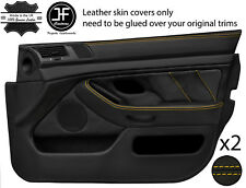 Yellow Stitch 2X Front Full porte carte en cuir couvre Fits BMW 5 Series E39 95-03