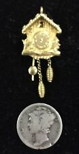 14K Gold Coo Coo Clock, Charm/Pendant. The Lower Portions are able to move.
