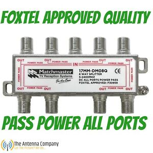 tv antenna splitter 8 way industry standard quality f type quality foxtel