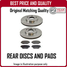 REAR DISCS AND PADS FOR RENAULT MEGANE COUPE CABRIOLET 1.5 DCI 7/2010-
