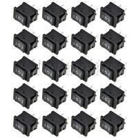 20Pcs 6-Pin DPDT ON-OFF-ON 3-Position Snap in Boat Rocker Switch