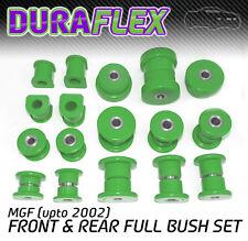 MGF (upto 2002) FRONT & REAR BUSH SET Green Duraflex PRO Polyurethane