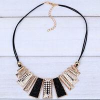 Women Fashion Pendant Chain Choker Crystal Chunky bib Statement Necklace Jewelry