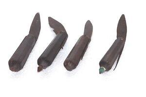 4 PC Repasser Couteau Manche en Bois Vintage Ancien Décoratifs Collection P-43