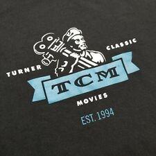 TCM Turner Classic Movies Mens T-Shirt sz XL Black Spell Out C54