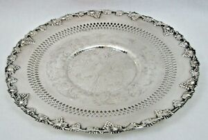 """Wm A Rogers Silverplate Old English Reproduction 10 1/2"""" Plate Tray Platter- Exc"""