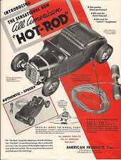 All American Hot Rod Tether Car Poster & Instruction Sheet & 2 Hot Rod Mag Ads