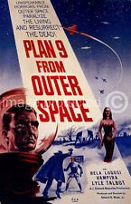 Vintage Ed Wood Movie Poster Plan 9 From Outer Space 18x24