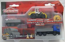 Majorette Model car Construction MAN TGS with Trailer and Liebherr Loader L538