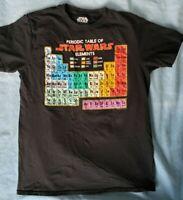 Star Wars Periodic Table Graphic Men's T Shirt Size Medium Fifth Sun Homeschool