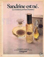Publicité Advertising 046 1970 Cheramy parfum 'Sandrine'