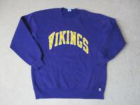 VINTAGE Minnesota Vikings Sweater Adult 2XL XXL Purple Yellow NFL Football 90s *