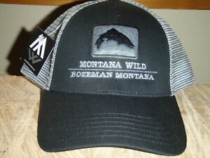 SIMMS Fishing Products Montana WILD Trout Black Trucker hat