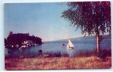 Sailing Sailboat Lake Washington Seattle Puget Sound Vintage Postcard B31